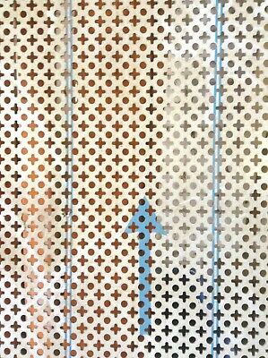 £125 • Buy Decorative Perforated 304 Stainless Steel Sheet 800 X 1800 X 2mm Radiator Cover