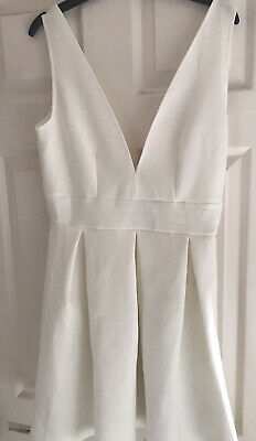 £20 • Buy Oh My Love (topshop Concession) Cream Scuba Dress Size Large