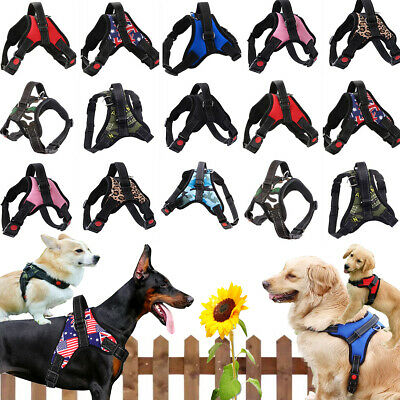 £5.99 • Buy  Dog Harness Collar Leash No Pull Pet Adjustable Reflective Safety Puppy Vest