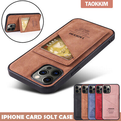 AU12.99 • Buy For IPhone 13 12 Mini 11 Pro Max XR XS 8 7 SE Plus Case Leather Card Slot Cover