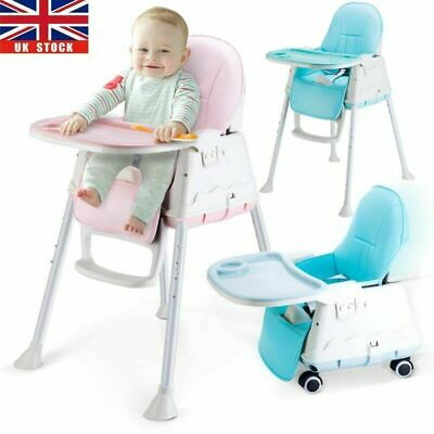 £30.99 • Buy Adjustable 4-In-1 Baby Highchair Infant Feeding Seat Toddler Table Chair + Tray