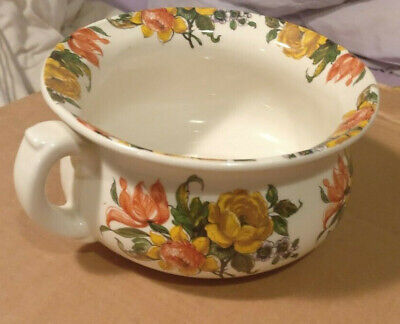 £19 • Buy Heron Cross Pottery Chamber Pot Floral Design New