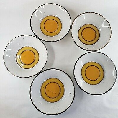 £54.84 • Buy Vintage MCM Stonehenge Midwinter Sun 5pc Bowl Set Cereal Made In England