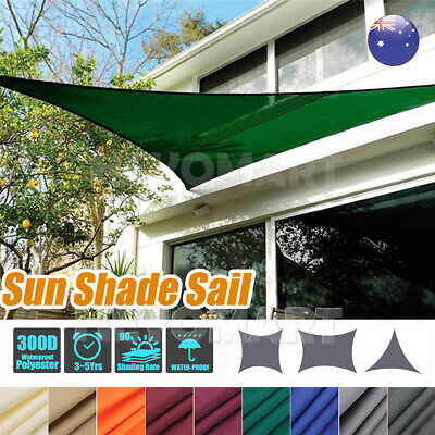 AU26.99 • Buy Sun Shade Sail Cloth Canopy ShadeCloth Triangle Square Rectangle Outdoor Awning.