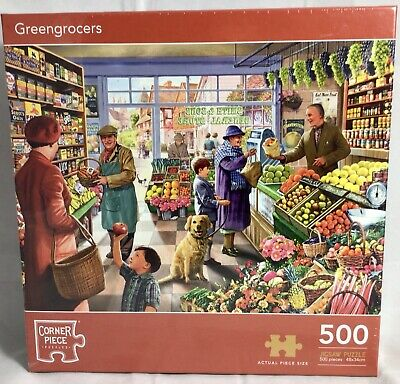 £8.75 • Buy Greengrocers 500 Piece Jigsaw Puzzle Toys Games  Shop Theme Ideal Xmas Gift  BN