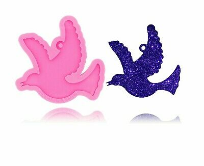 £6.53 • Buy Dove Shiny Glossy Silicone Mold For Necklace Jewelry Making Epoxy Resin Craft
