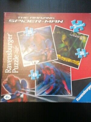 £4.95 • Buy Ravensburger The Amazing  Spiderman Puzzle/jigsaw 3 Puzzles Complete