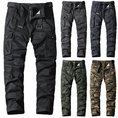 £25.17 • Buy Men's Camo Tactical Combat Cargo Trousers Army Military Pants Work Wear Bottoms