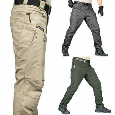 £14.23 • Buy Men's Military Tactical Trousers Pants Outdoor Fishing Hiking Combat Cargo Work