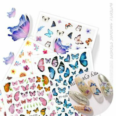 AU3.99 • Buy NEW 3D Nail Decor Decal Stickers Nail Art Accessories Butterfly Design AU STOCK