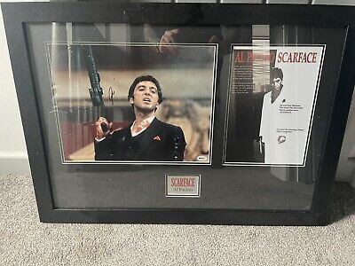 £380 • Buy Al Pacino Signed And Framed Scarface With Racc Authenication Sticker