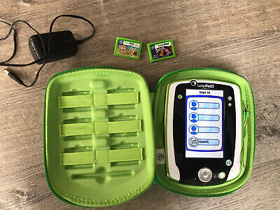 £18.18 • Buy Leapfrog Leappad Learning System Rechargeable Green With Case And 2 E-Book Games