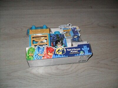 £9.99 • Buy PJ Masks Trap & Escape Mini Playset With Small Catboy & Romeo Figures - NEW