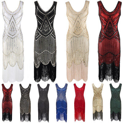 £19.99 • Buy Great Gatsby 1920s Cocktail Party Sequin Fringe Flapper INSPIRED Dress PLUS SIZE