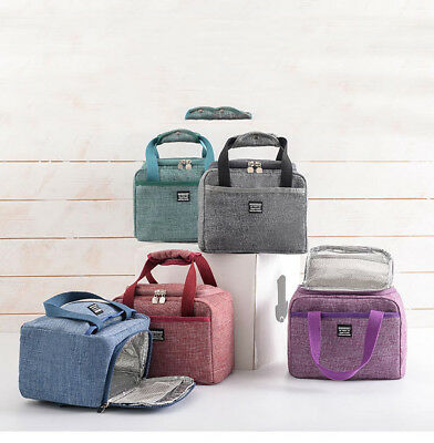 AU19.31 • Buy Insulated Lunch Box Cooler Bag Waterproof Thermal Work School Picnic Bento