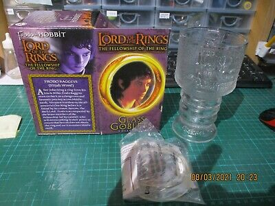 £15 • Buy Lord Of The Rings Light Up Glass Goblet Frodo The Hobbit 2001