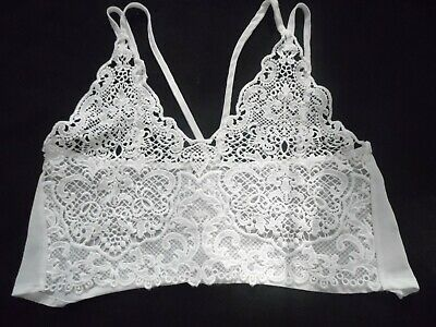 £8.99 • Buy Hearts And Bows White Lace Crop Top Size 10