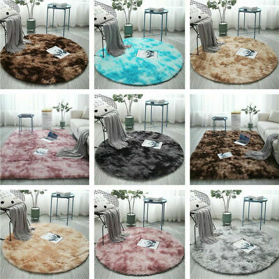 £7.49 • Buy Oversized Tie Dyed Round Carpet Floor Mats Area Rug Home Modern Shaggy Carpet