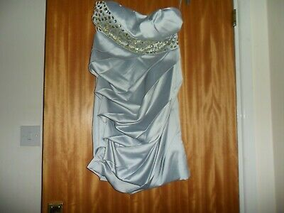 £15.95 • Buy Ladies Silver Grey Party Dress Approx Size 8  - Eva & Lola - Never Worn