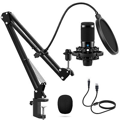£22.49 • Buy Microphone Boom Arm Stand Desk Mount With Pop Filter For Blue Yeti Snowball UK