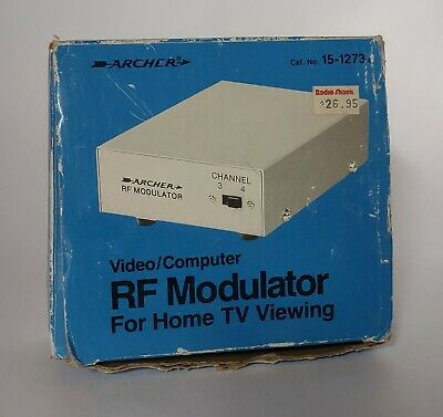 £6.18 • Buy Vintage Radio Shack Archer 15-1273A RF Modulator NEW With Box And Owner's Manual