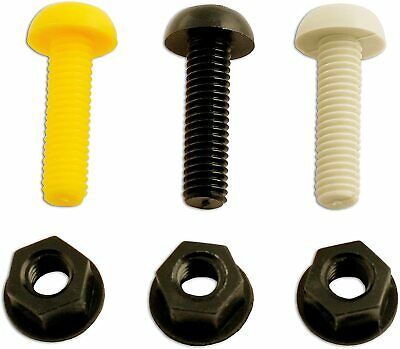 £4.92 • Buy Plastic Number Plate Screws Nuts Bolts Fixings Fittings , Yellow , Black , White