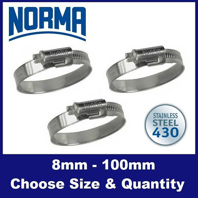 £3.50 • Buy NORMA CLAMP 'TORRO' Narrow Band Jubilee Hose Clips Range Clamps - Choose Size