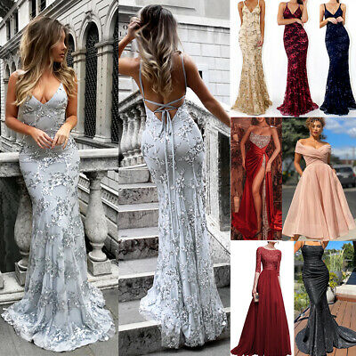 £20.43 • Buy Womens Ball Gown Prom Dress Evening Party Ladies Cocktail Wedding Formal Dresses