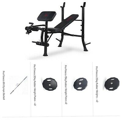 £330 • Buy Marcy BE1000 Barbell Weight Bench - Black/Red 120kg+Olympic Bar Delivery £600RRP