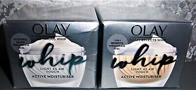 AU42.34 • Buy Olay Total Effects Whip 50ml + Olay Luminous Whip 50ml - Both New Boxed & Sealed