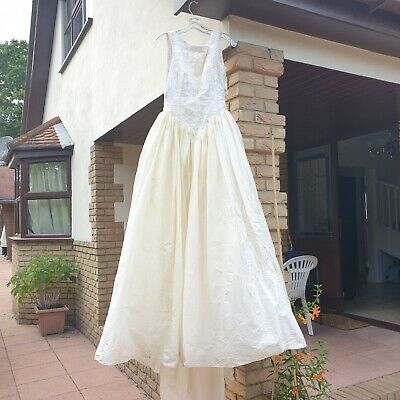 £19.99 • Buy Vintage 1980s Tracey Connop Zombie Bride Wedidng Dress Costume Theatre Fits 10
