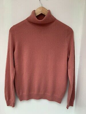 £19.99 • Buy M&S Marks And Spencer 100% Cashmere Roll/ Polo Neck Terracotta Jumper UK 10