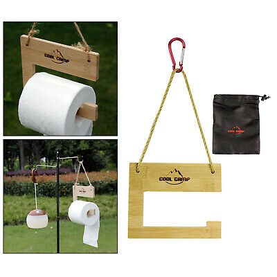 AU15.40 • Buy Hanging Paper Roll Holder Toilet Paper Rack For BBQ Outdoor Party Portable