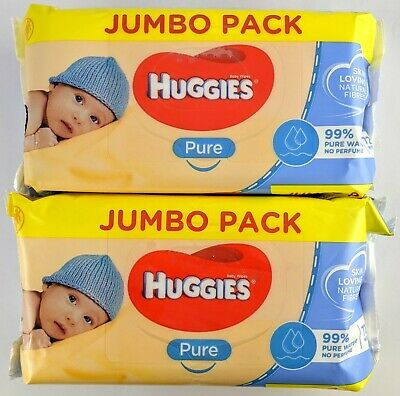 AU16 • Buy 2 X Huggies Pure 72 Baby Wipes Value Pack No Perfume Resealable Packet