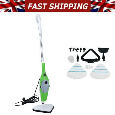 £40.32 • Buy 10 IN 1 Hot Steam Mop Handheld Floor Window Carpet Washer Cleaner With 10pcs Kit