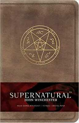 £11.49 • Buy Supernatural: John Winchester Hardcover Ruled Journal By Insight Editions...