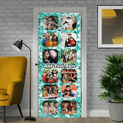 £19.99 • Buy Party Decoration - Teal Sparkle - Personalised Photos And Text Door Banner