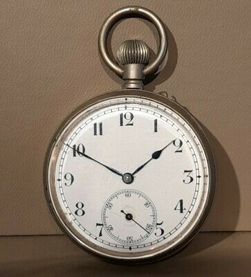 £15.90 • Buy Antique Enigma Silver Toned Cased Pocket Watch, Spares/repair Swiss Made
