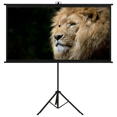 AU160.39 • Buy Portable Projector Projection Screen With Tripod Stand 108  16:9 Display White
