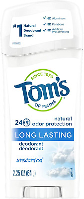 £12.20 • Buy Tom's Of Maine Natural Long-Lasting Deodorant, Unscented, 64g