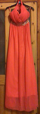 £20 • Buy Eva & Lola, Ladies Size M, Coral Coloured, Long Evening Dress, New With Tags