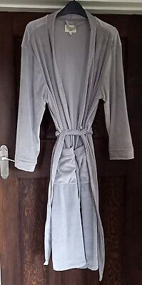 £10 • Buy Grey Velour Next Dressing Gown - Small