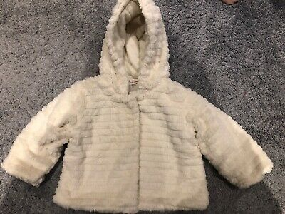 £14 • Buy White Faux Fur Winter Coat. Baby / Toddler Girl 12-18 Months. Good Condition