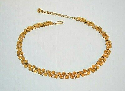 £24.99 • Buy Vintage Trifari Gold Tone Textured Leaves Necklace