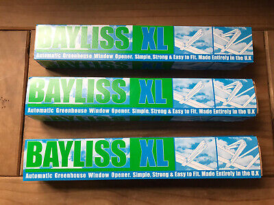 £31 • Buy 3 X Bayliss XL Autovent Automatic Greenhouse Window Roof Vent Opener Auto Vent