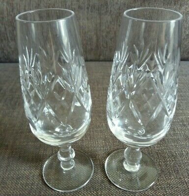 £14.99 • Buy Royal Doulton Lead Crystal Champagne Flutes X 2 (NWOT)