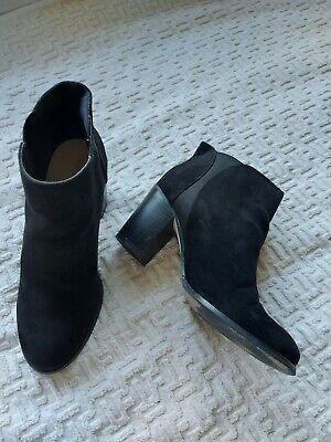 £5.99 • Buy Red Herring Ladies Black Suede Finish Ankle Boots Size 5