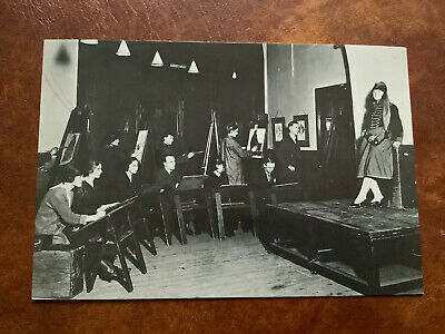 £1.99 • Buy Old Postcard Lowry In Art Class Salford Art Gallery Manchester
