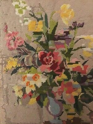 £4.99 • Buy Vintage Penelope Spring Tapestry Canvas. Nearly Complete. Used No Wools