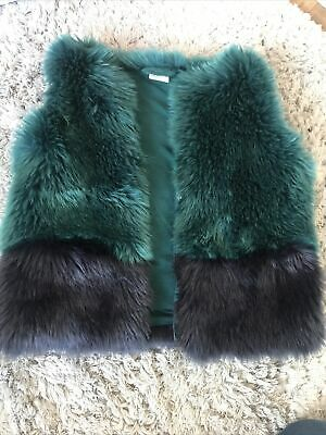 £4 • Buy Girls Age 12 - 18months Faux Fur Gilet Jacket Green NEXT Great Condition